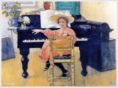 'Budding Diva, Brita', 1906 - Carl Larsson (Swedish, 1853 - 1919)