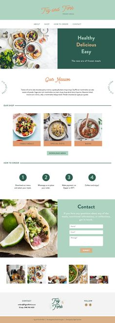 Food Web Design, Modern Web Design, One Page Website, Food Website, Website Design Layout, Website Design Inspiration, Template Site Web, Modern Food, Food Branding