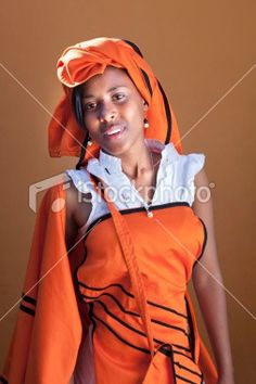 Xhosa woman in her Xhosa traditional attire!!
