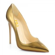 678081d53a3 Women s Golden Stiletto Heels Mirror Leather Pumps Dress Shoes by FSJ (180  PEN) ❤