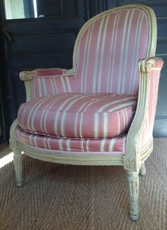 Lovely #armchair Bergere #LouisXVI in lacquered wood. #18thcentury. For sale on #Proantic by  Geoffroy Dassé Antiquités.