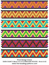 Even count peyote pattern