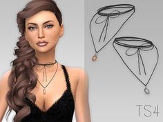 24's Necklace by GrafitySims at TSR • Sims 4 Updates