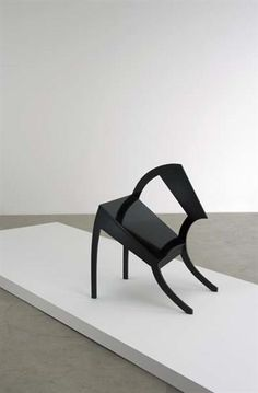 """STEFAN WEWERKA """"Classroom"""" chair, ca. 1970 Painted wood. 29 3/4 in. (75.6 cm) high Editioned by Galerie Mikro, Germany. From an edition of 40."""