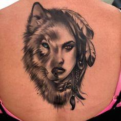 50 Of The Most Beautiful Wolf Tattoo Designs The Internet Has Ever Seen tatuagem de lobo © Roseville Tattoo Co. Wolf Tattoo Design, Tattoo Designs, Tattoo Wolf, Wolf Tattoo Back, Inca Tattoo, Native Indian Tattoos, Native American Tattoos, Dog Tattoos, Animal Tattoos