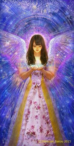 Art by Hiroyuki Satou Angel Images, Angel Pictures, I Believe In Angels, My Guardian Angel, Angels Among Us, Angels In Heaven, Angel Art, Love And Light, Fantasy Art