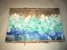 Acrylic pour with glow in the dark paints Acrylic Pouring, The Darkest, Art Pieces, Glow, Ocean, Organic, Ink, Metal, Painting