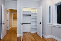 love this small reach-in closet space