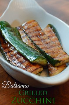 Balsamic Grilled Zucchini by From Valerie's Kitchen, via Flickr Side Recipes, Vegetable Recipes, Vegetarian Recipes, Healthy Recipes, Vegetarian Grilling, Healthy Grilling, Veggie Food, Vegan Vegetarian, Grilling Recipes