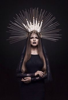 St. Lucias Day Crown - Crown of Mourning inspiration