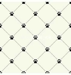 Paw Print Background Patterns Paper Dog Vector Wallpaper