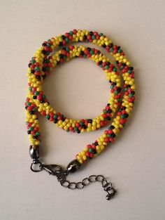 Cute Necklace Design Kumihimo Beaded Necklace by MyIslandDream