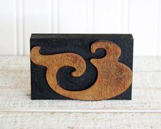 vintage-inspired wood letterpress block. &. topblocktype on etsy.