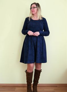 Jerseykleid Mira von Pattydoo aus Lillestoff Häkelblumen
