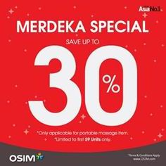 19-21 Aug 2016: Osim Merdeka SALE