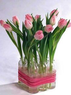 Centerpieces Bases for Flower Arrangement | Ideas for DIY Recycling Glass Vases and Flower Arrangements
