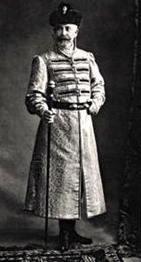 Vsevolod Yevgenevich Koniar at the Winter Palace Masquerade Costume ball, 1903.