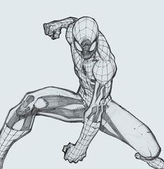spiderman drawing Digital painting tutorial Spiderman