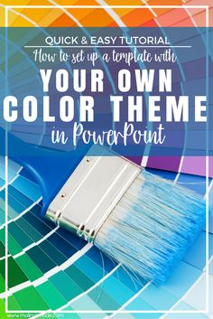 Malimo Mode: A Quick & Easy Tutorial: How To Create A Color Theme Template In PowerPoint - stay true to your school, blog, brand or favorite colors!