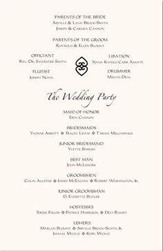 A wedding program is simply a printed document that outlines the details of your wedding ceremony. Description from weddingphoto.rocks. I searched for this on bing.com/images