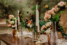 Boho Fall color palette in peach and orange wedding tablescape and centerpiece. Orange Wedding Invitations, Bohemian Wedding Invitations, Wedding Color Schemes Fall Rustic, Wedding Colors, Coral Weddings, Bohemian Weddings, Rustic Weddings, Boho Wedding, Boho Flowers
