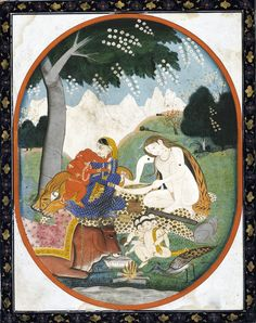 Kartikeya (right), Ganesha, Shiva, and Parvati.