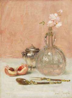 art-and-things-of-beauty:  Joseph Bail (French, 1862-1921) - Still life, oil on canvas, 33 x 24,5cm. 1887.