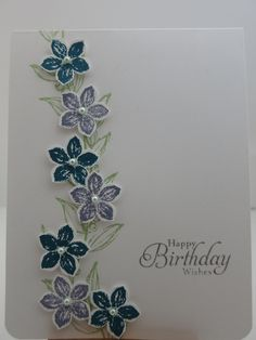 Petite Petals Birthday Card