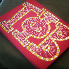 9x12 Sorority Letter Canvas by CanvasesByJB on Etsy, $24.00 change letters