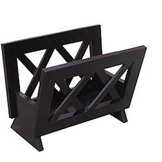 @Overstock.com - Contemporary Mahogany Solid Wood Magazine Rack - Organize your magazines in style with this chic wood magazine rack. The rack has a deep mahogany finish and a criss-cross pattern that give it a sophisticated look, while the spacious 11.25' x 15.75' x 10.25' interior will manage your magazine clutter.  http://www.overstock.com/Home-Garden/Contemporary-Mahogany-Solid-Wood-Magazine-Rack/4823829/product.html?CID=214117 $32.99