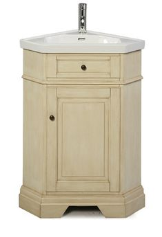 Corner Bathroom Vanities | Richmond Corner Vanity Combo Parchment Includes  Vanity Top Bowl And .