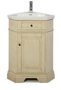 corner bathroom vanities   richmond corner vanity combo parchment includes vanity top bowl and ...