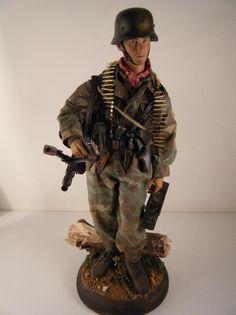 WW2 1/6 diorama. Hitlerjugend Soldier, Normandy 1944.
