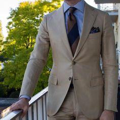 "paul-lux: "" Summer is coming! Bespoke @sartoriaripense linen and cotton suit @violamilano tie #wiwt #lookbook #apparel #mnswr #menswear #igfashion #guyswithstyle #mensfashionpost #fashion #mensfashion..."