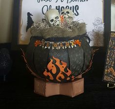 Witches cauldron using Party on Elmwood and Camp Firefly kits at svgcuts.com