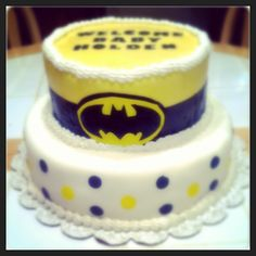 Baby Shower Batman Themed Cake.