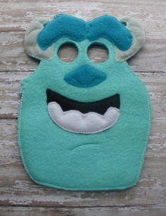Sulley Monster inc Mask by OFNAH on Etsy, $6.00
