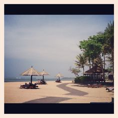 The beach outside the Conrad Bali Resort Bali Resort, The Outsiders, Beach, Seaside