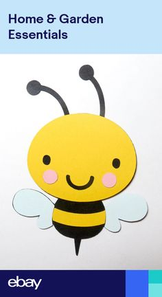 Cute Animals Bumble Bee Die Cut Cardstock Scrapbook Embellisment Large Scrapbook, Scrapbook Albums, Bumble Bee Clipart, Children's Church Crafts, 4th Of July Fireworks, Bee Theme, Scrapbook Embellishments, Kids Church, Classroom Themes