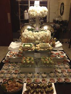 Wedding canapes set up at The Westin Playa Bonita. #wedding #food #delicious