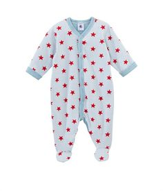 Baby boy star print sleepsuit in tubic cotton