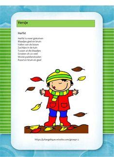 Versje: Herfst Ppr, Kids Education, School, Children, Fall, Autumn, Language, Early Education, Young Children