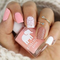 CUTE NAIL ART The perfect nails to complete your chiq looks! Related Fab nail art designs for all of the manicure inspiration you need Short nails. Cute Acrylic Nails, Cute Nail Art, Acrylic Nail Designs, Cute Nails, Light Pink Nail Designs, Kid Nail Art, Elegant Nail Designs, Colorful Nail Designs, Pretty Designs