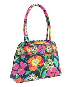 This Jazzy Blooms Bowler by Vera Bradley is perfect! #zulilyfinds