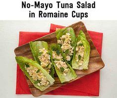 No-Mayo Tuna Salad In Romaine Cups