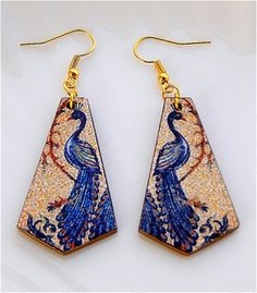 Earrings in a lightweight yet durable plastic material, finished by hand, with an ancient Roman mosaic depicting a Peacock, finishing with edges and back in solid gold.  height: 4.50 cm, thickness: 2 mm   Shop this product here: spreesy.com/DifferentsEarrings/5   Shop all of our products at http://spreesy.com/DifferentsEarrings      Pinterest selling powered by Spreesy.com