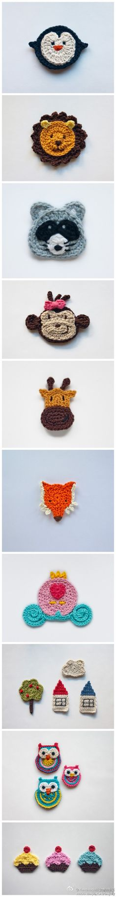 Simple, easy, cute crochet 2D critters