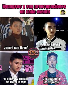 Kyungsoo, Chanyeol, Kaisoo, Memes Exo, Bts Memes Hilarious, Pop Lyrics, Exo Do, Funny Times, Meme Faces