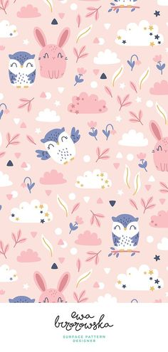34 Ideas wall paper floral nursery print patterns for 2019 New Wallpaper Iphone, Kawaii Wallpaper, Trendy Wallpaper, Cute Wallpapers, Pink Rabbit Wallpaper, Disney Wallpaper, Nursery Patterns, Nursery Prints, Print Patterns