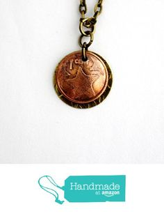 Domed Coin and Brass Necklace Bahamas 1 Cent 2009 from Hendywood http://www.amazon.com/dp/B015EW8ZTQ/ref=hnd_sw_r_pi_dp_o23hwb0KJF3GR #handmadeatamazon